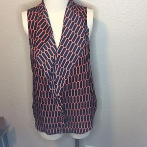 Michael Kors sleeveless patterned blouse
